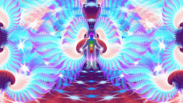 Digital Art - Cosmic Spiral Ascension 35 by Derek Gedney
