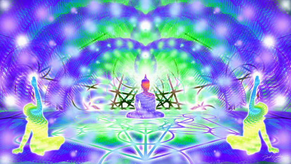 Digital Art - Cosmic Spiral Ascension 40 by Derek Gedney