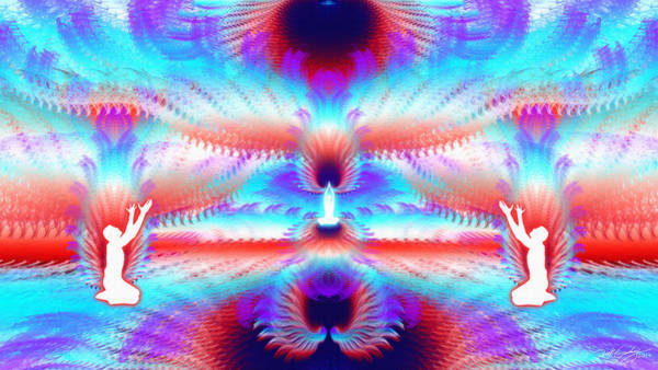 Digital Art - Cosmic Spiral Ascension 47 by Derek Gedney