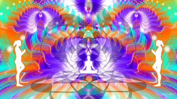 Digital Art - Cosmic Spiral Ascension 61 by Derek Gedney