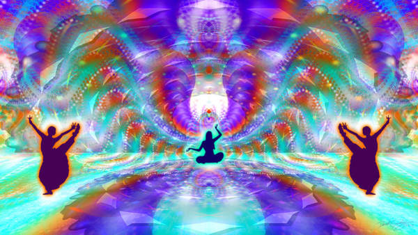 Digital Art - Cosmic Spiral Ascension 71 by Derek Gedney