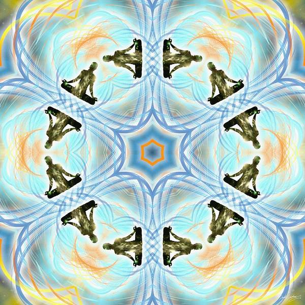 Digital Art - Cosmic Spiral Kaleidoscope 01 by Derek Gedney