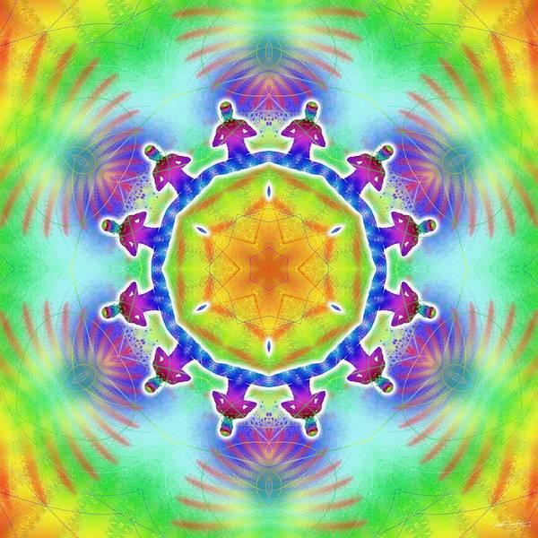 Digital Art - Cosmic Spiral Kaleidoscope 02 by Derek Gedney