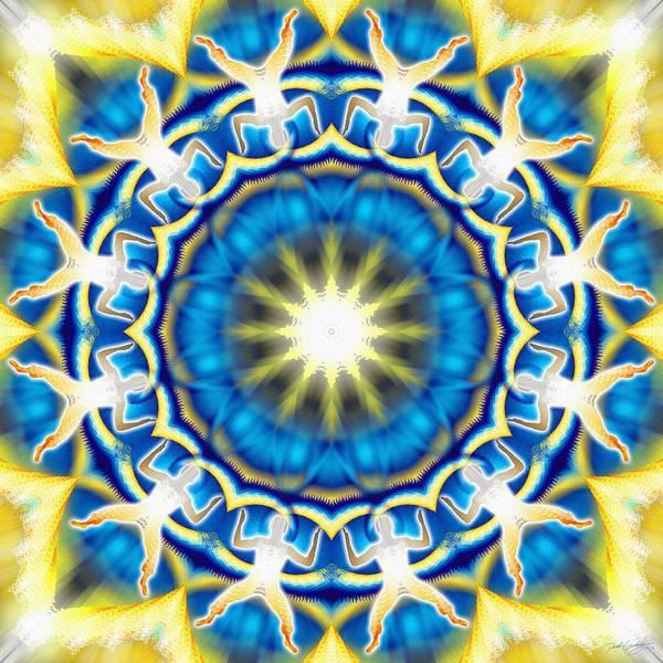Digital Art - Cosmic Spiral Kaleidoscope 05 by Derek Gedney
