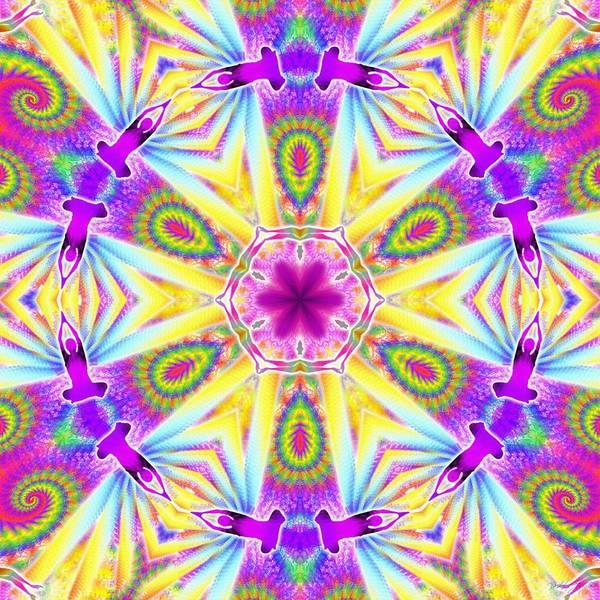 Digital Art - Cosmic Spiral Kaleidoscope 06 by Derek Gedney