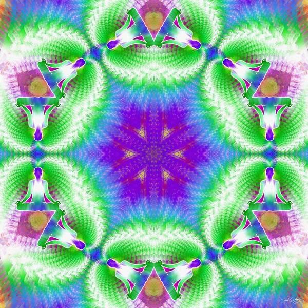 Digital Art - Cosmic Spiral Kaleidoscope 10 by Derek Gedney