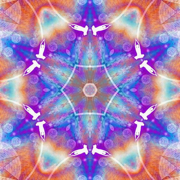 Digital Art - Cosmic Spiral Kaleidoscope 12 by Derek Gedney