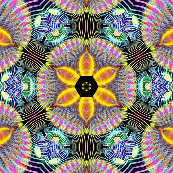 Digital Art - Cosmic Spiral Kaleidoscope 13 by Derek Gedney