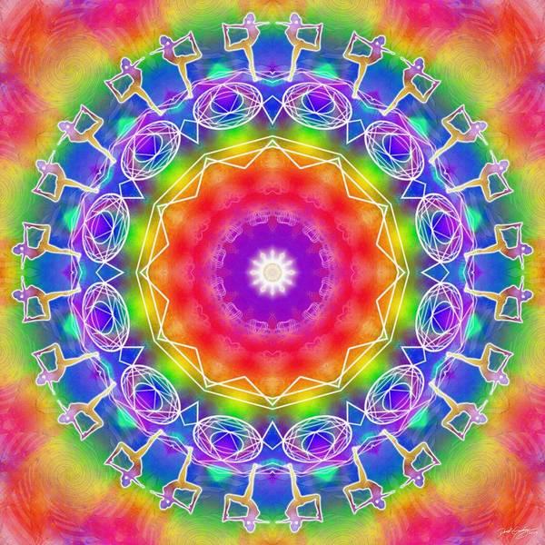 Digital Art - Cosmic Spiral Kaleidoscope 14 by Derek Gedney