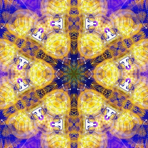 Digital Art - Cosmic Spiral Kaleidoscope 15 by Derek Gedney