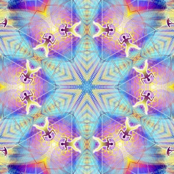 Digital Art - Cosmic Spiral Kaleidoscope 17 by Derek Gedney