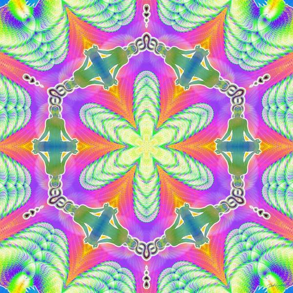 Digital Art - Cosmic Spiral Kaleidoscope 18 by Derek Gedney