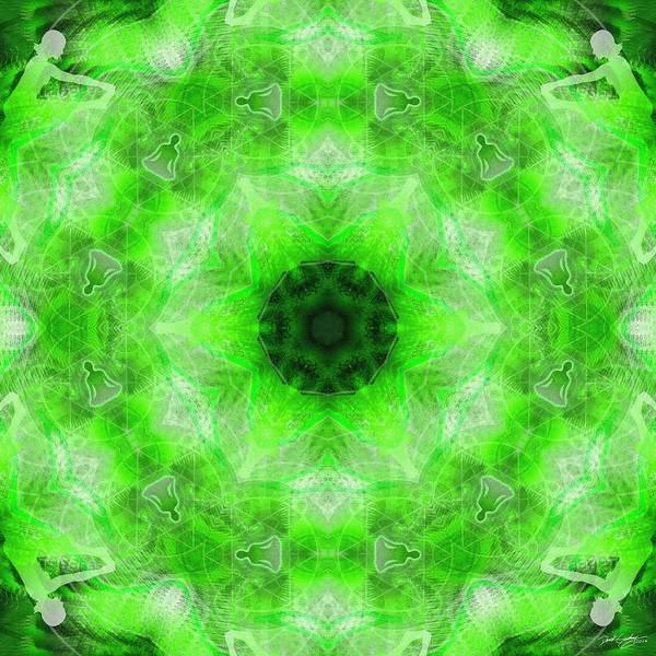Digital Art - Cosmic Spiral Kaleidoscope 21 by Derek Gedney