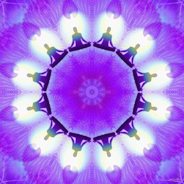 Digital Art - Cosmic Spiral Kaleidoscope 25 by Derek Gedney