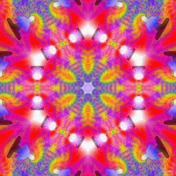 Digital Art - Cosmic Spiral Kaleidoscope 29 by Derek Gedney