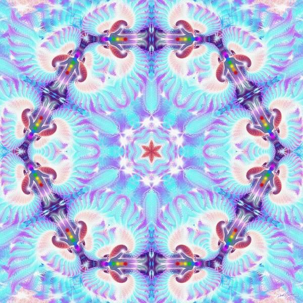 Digital Art - Cosmic Spiral Kaleidoscope 32 by Derek Gedney