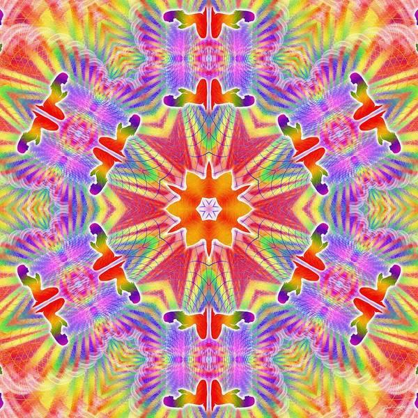 Digital Art - Cosmic Spiral Kaleidoscope 33 by Derek Gedney