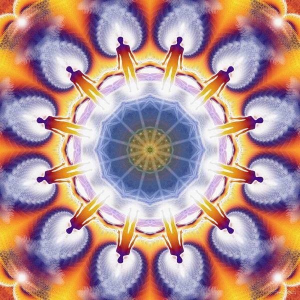 Digital Art - Cosmic Spiral Kaleidoscope 34 by Derek Gedney