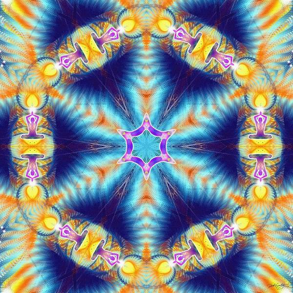 Digital Art - Cosmic Spiral Kaleidoscope 36 by Derek Gedney