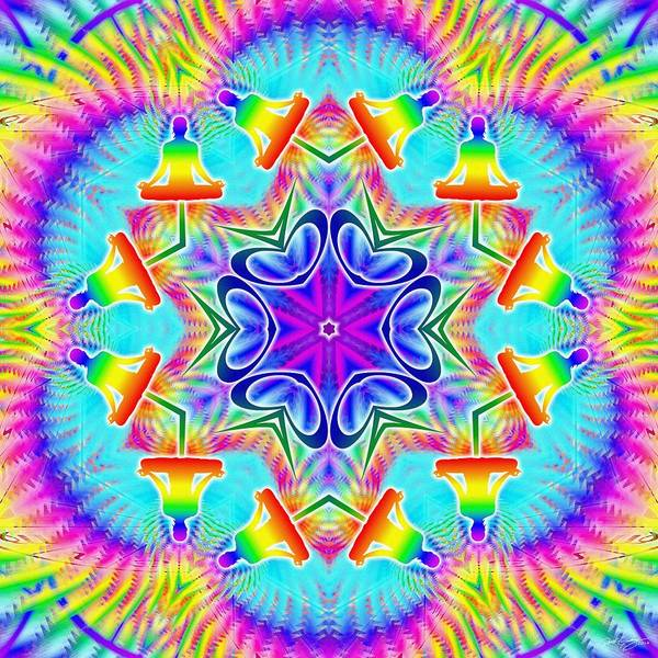 Digital Art - Cosmic Spiral Kaleidoscope 39 by Derek Gedney