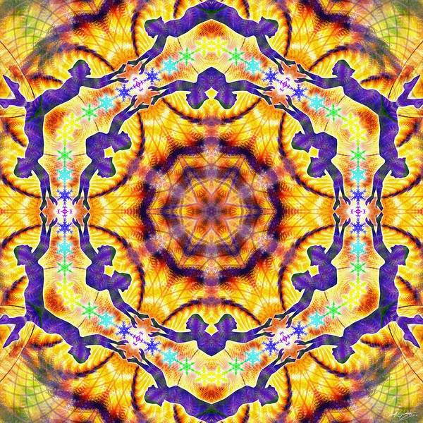 Digital Art - Cosmic Spiral Kaleidoscope 40 by Derek Gedney