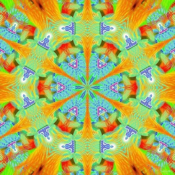 Digital Art - Cosmic Spiral Kaleidoscope 41 by Derek Gedney