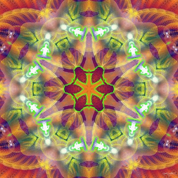 Digital Art - Cosmic Spiral Kaleidoscope 42 by Derek Gedney