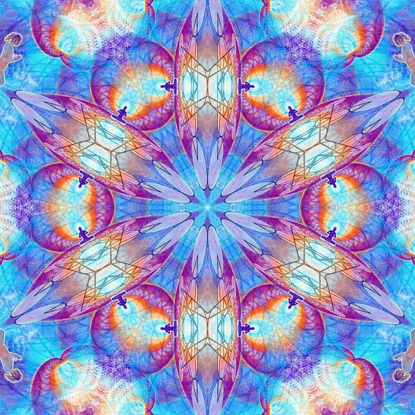 Digital Art - Cosmic Spiral Kaleidoscope 43 by Derek Gedney