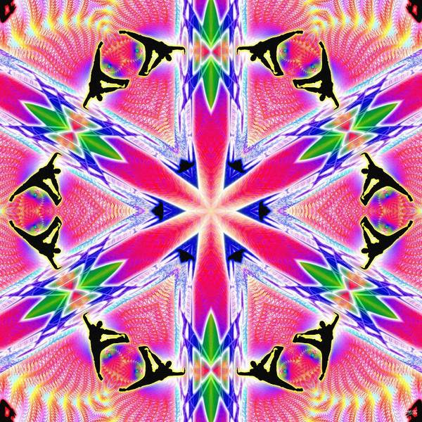 Digital Art - Cosmic Spiral Kaleidoscope 46 by Derek Gedney