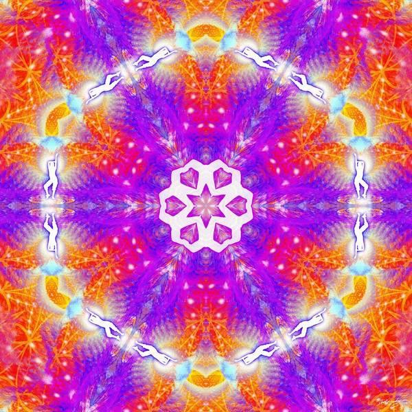 Digital Art - Cosmic Spiral Kaleidoscope 48 by Derek Gedney
