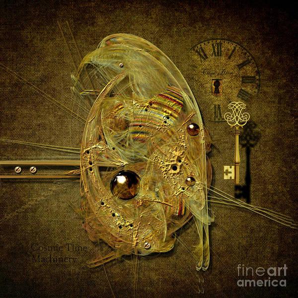 Digital Art - Cosmic Time Egg by Alexa Szlavics