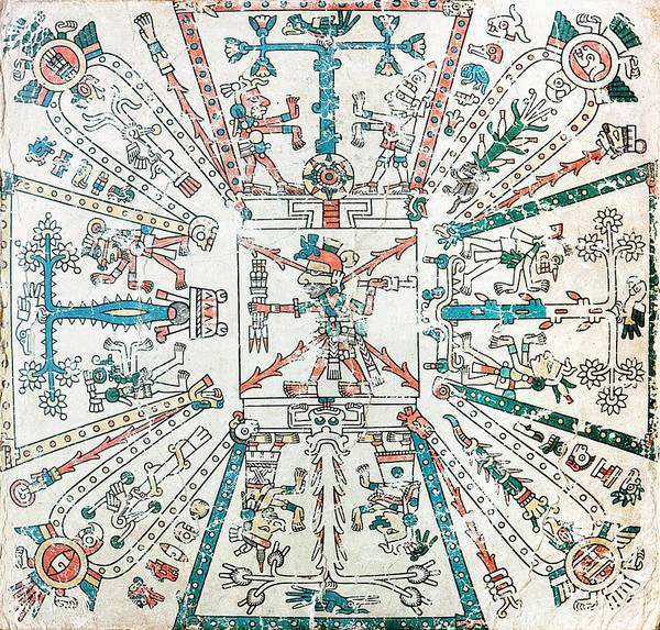Aztec Photograph - Cosmological Map by Medical Images, Universal Images Group/science Photo Library