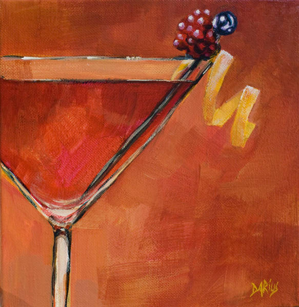 Martini Painting - Cosmopolitan by Sue  Darius