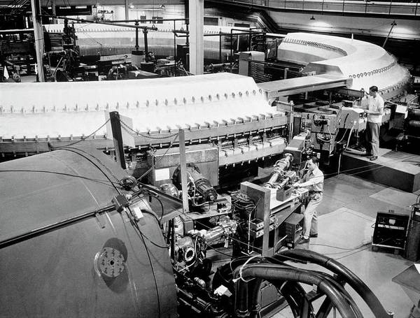 Particle Accelerator Wall Art - Photograph - Cosmotron At Brookhaven National Lab by Brookhaven National Laboratory/science Photo Library