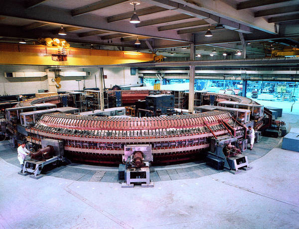 Laboratory Photograph - Cosmotron Particle Accelerator by Brookhaven National Laboratory/science Photo Library