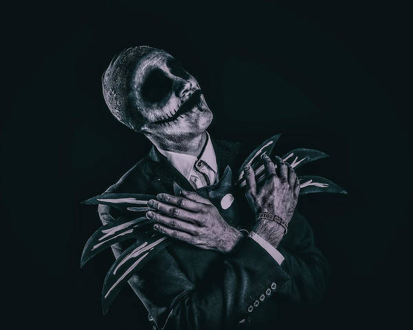 Hand Painted Photograph - Cosplay - Jack Skellington by Anders Samuelsson