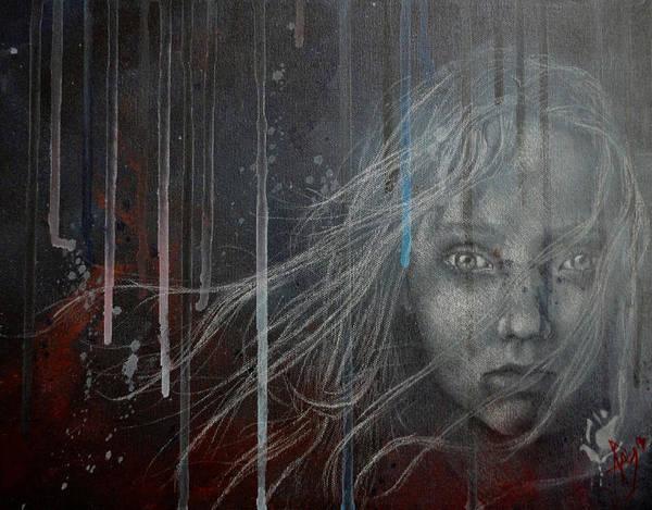 Miserable Drawing - Cossette Les Miserables by Preston Maurer