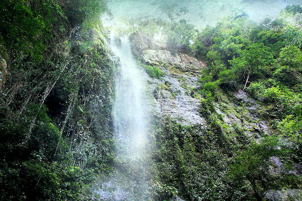 Photograph - Costa Rica Waterfall by Peggy Collins