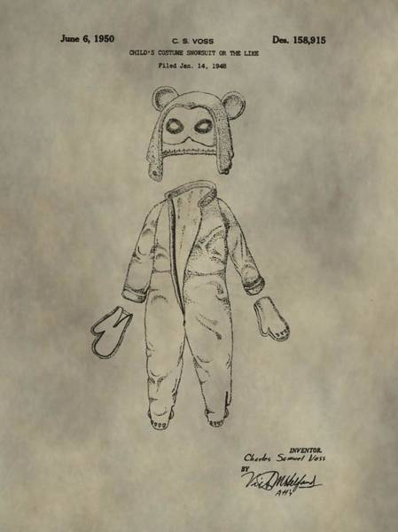 Digital Art - Costume And Mask Patent by Dan Sproul