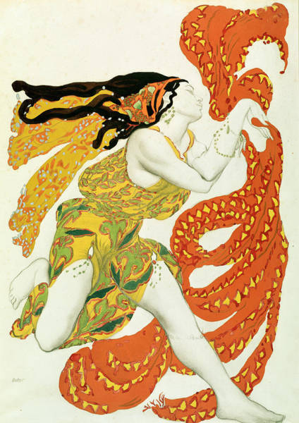 Wall Art - Painting - Costume Design For A Bacchante In Narcisse By Tcherepnin by Leon Bakst