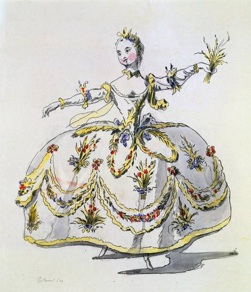 Goddess Drawing - Costume Design For Ceres, Facsimile by French School