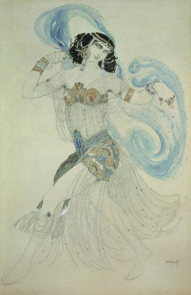 Belly Dancers Photograph - Costume Design For Salome In Dance Of The Seven Veils, 1909 Wc by Leon Bakst