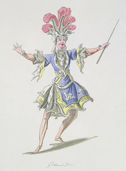 Wizard Drawing - Costume Design For The Magician by French School