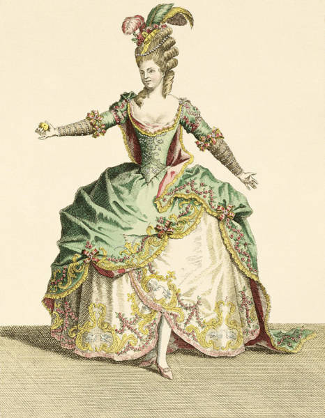 Goddess Drawing - Costume For Venus In Several Operas by Jean Baptiste Martin