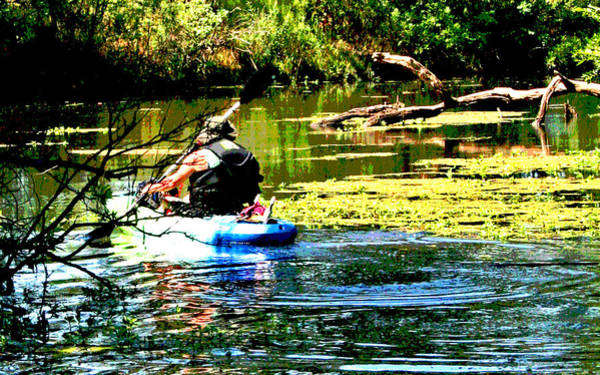 Digital Art - Cosumnes River Kayaking by Joseph Coulombe