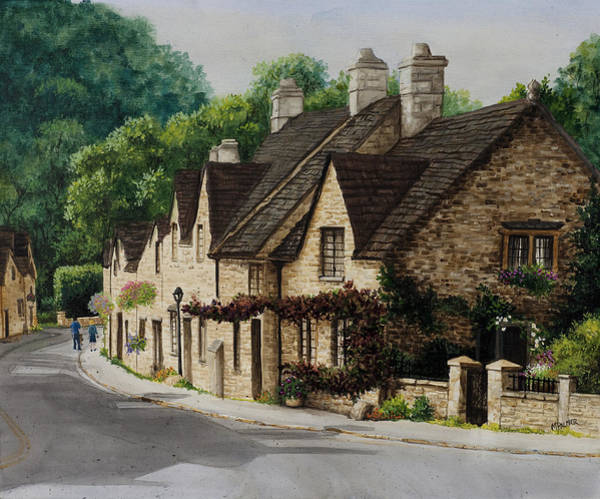 Painting - Cotswold Street by Mary Palmer
