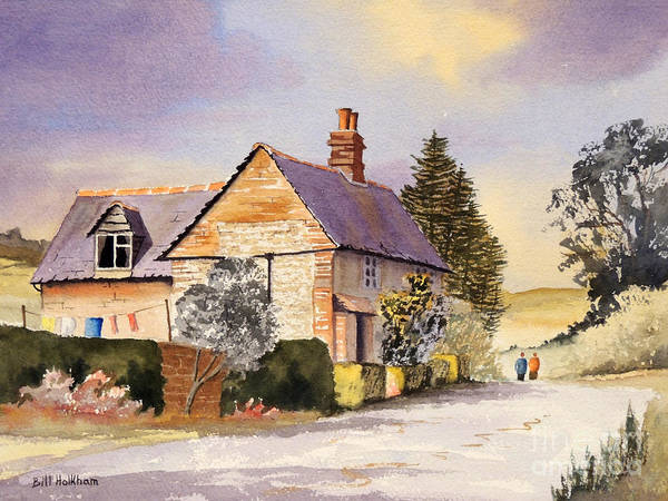 Wall Art - Painting - Cottage At Coleshill Village by Bill Holkham