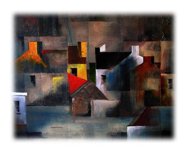 Mixed Media - Cottage Gables by Val Byrne