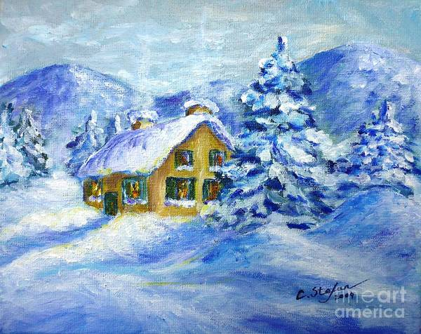Painting - Cottage In The Winter by Cristina Stefan