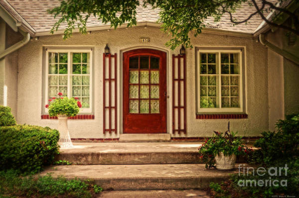 Wall Art - Photograph - Cottage With A Red Door by Mary Machare